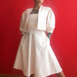 Vintage 50s/60s cotton sun dress/bolero jacket XS
